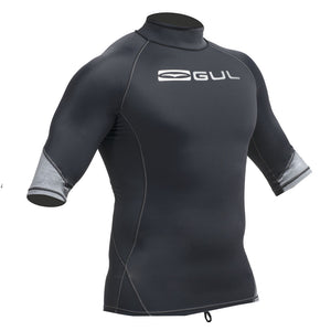 Gul Xola UV50 Mens Rash Vest | Black