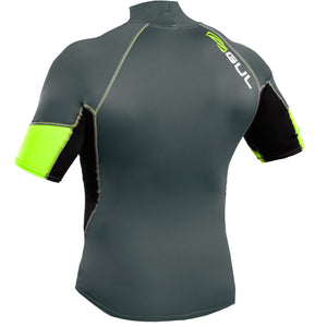 Gul Xola UV50 Men's Short Sleeve Rash Vest | Graphite Lime Back