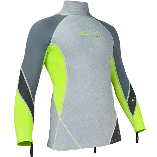 Gul Junior Long Sleeve UV50 Rash Vest | Marl/Lime