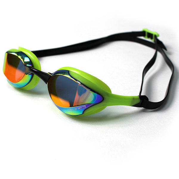 Zone3 Volare Race Goggles Mirrored Lens | Green/Black