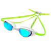 Zone3 Aspect Swimming Goggles with Mirrored Lenses | Lime/White