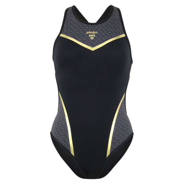 Phelps Vela Womens Training Swimsuit | Front