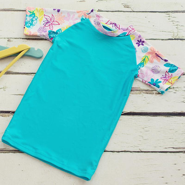 Big Fisch Floral Surf Rash Vest