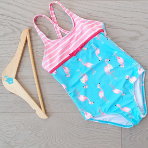 Big Fisch Flamingo Girl's Swimming Costume