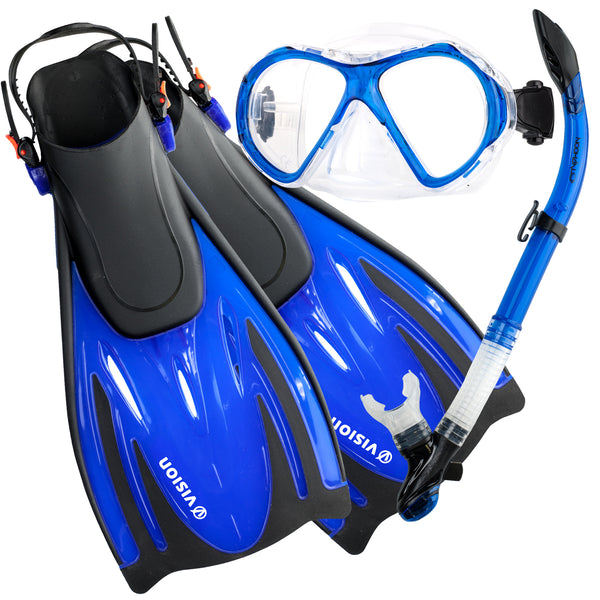 Typhoon Vision Mask, Eon Snorkel & lightweight fins package
