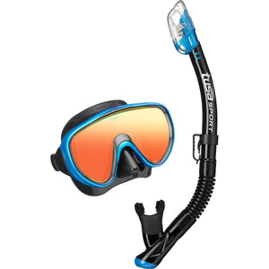 Serene Mirrored Mask & Dry Snorkel Set