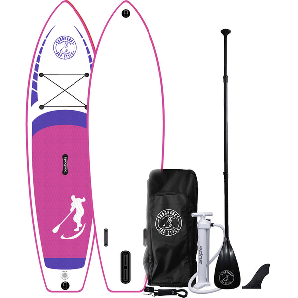 "Sandbanks Ultimate Classic 10' 6"" iSUP Paddle Board Package  Pink"