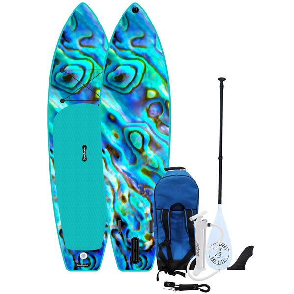"Sandbanks SUP Ultimate Art 10' 6"" iSUP Paddle Board Package - Paua"