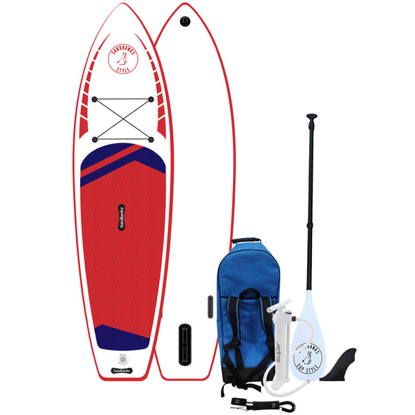 "Sandbanks Ultimate 10' 6"" iSUP Paddle Board Package Red"