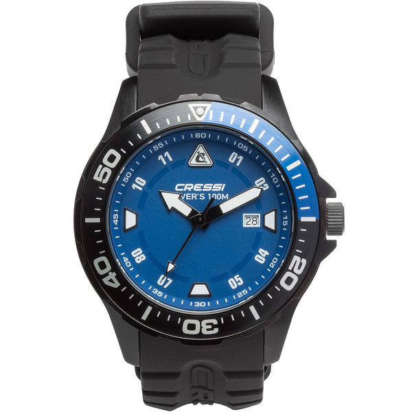 Cressi Manta 100m Watch | Black Blue