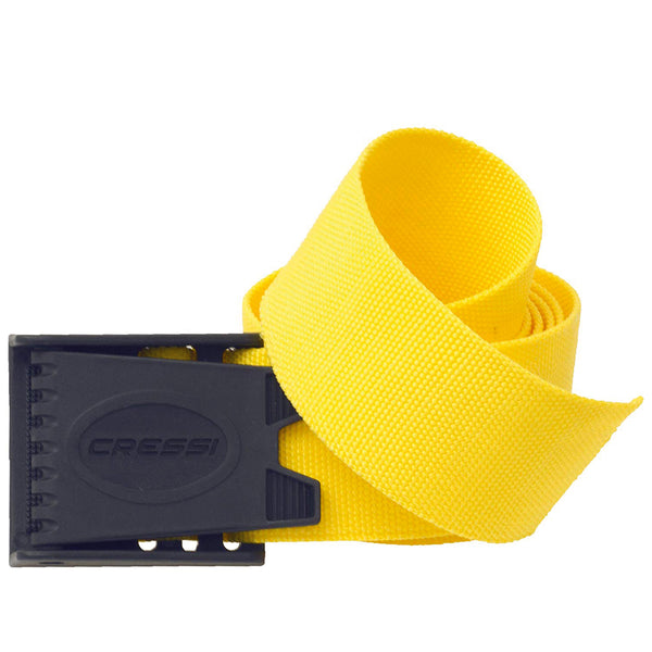 Cressi Webbing Weight Belt for Snorkelling and Diving in Yellow