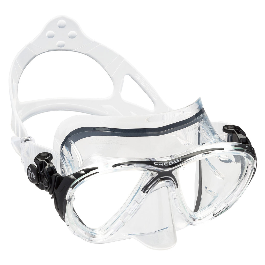 Cressi Big Eyes Evo & Corrective Lenses | Clear/Black Mask
