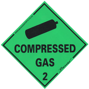 Compressed Air Cylinder Sticker | Compressed Gas