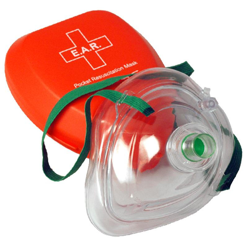 Pocket Mask with O2 Inlet