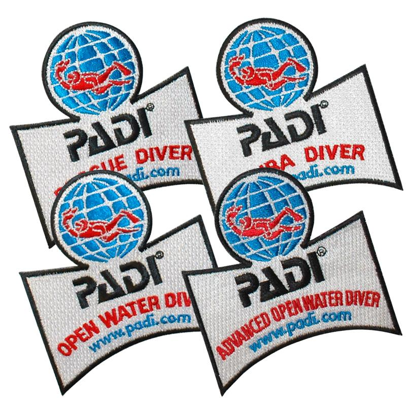 PADI Diver Qualification Emblems