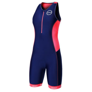 Zone3 Women's Aquaflo+ Trisuit | Navy/Coral