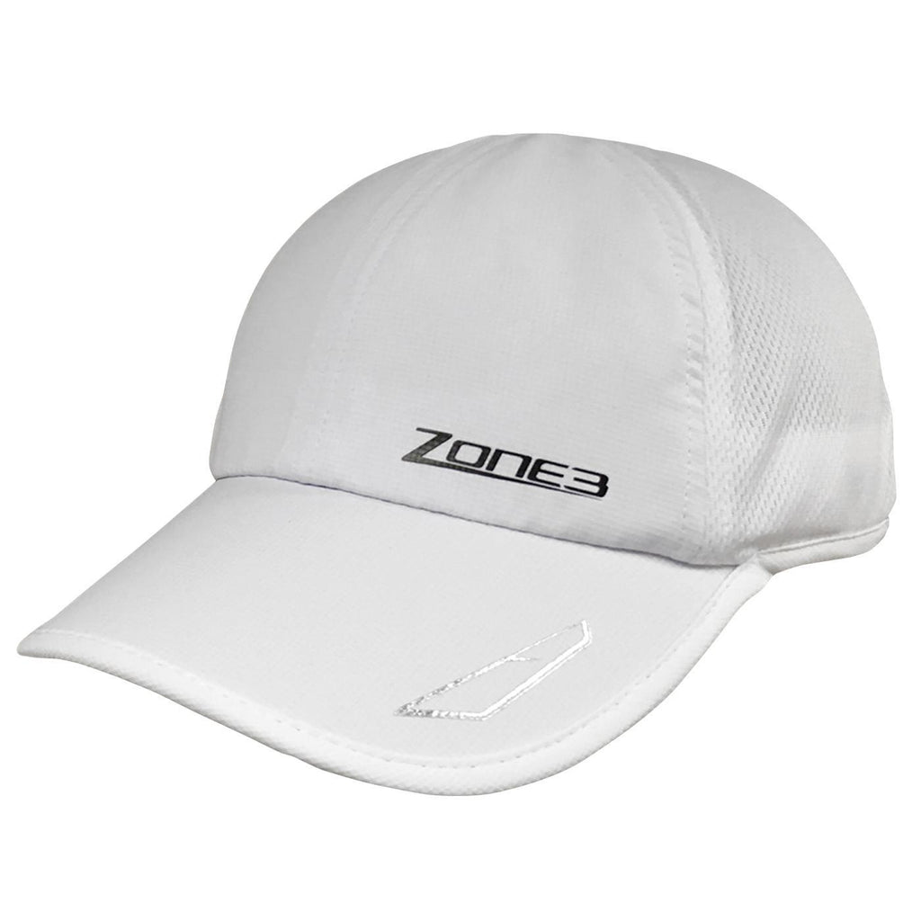 Zone3 Lightweight Mesh Running Cap | White