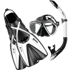 Mares X-One Marea Snorkelling Set with Fins | White