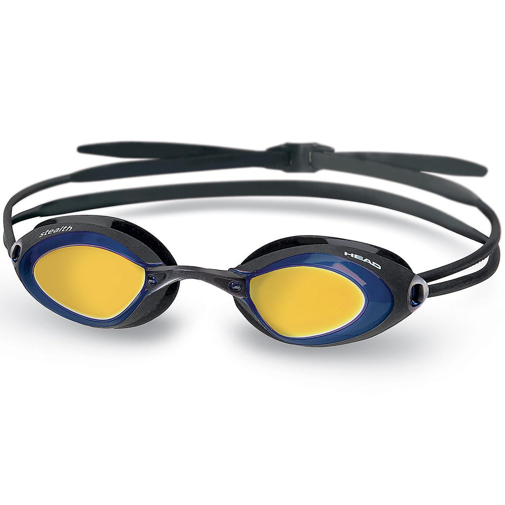 Head Stealth Mirrored Lens Swimming Goggles | Black/Blue