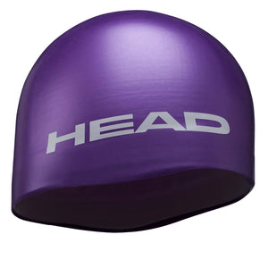 Head Moulded Silicone Swim Cap | Violet