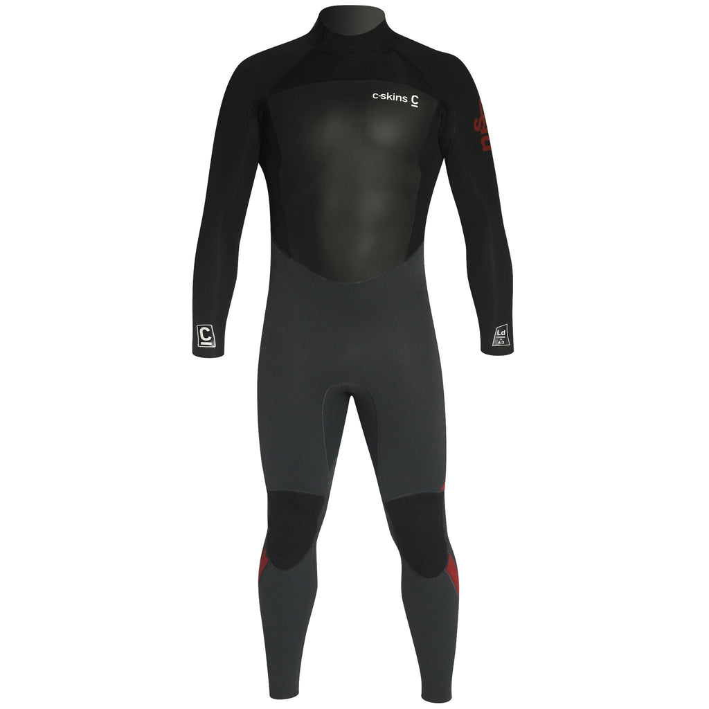 C-Skins Legend 4/3mm Wetsuit | Front Gunmetal/Black/Rust