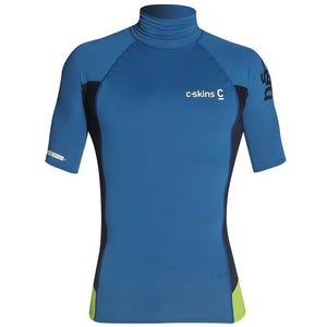 C-Skins UV50 Skins Turtle Neck Rash Vest | Blue/Navy