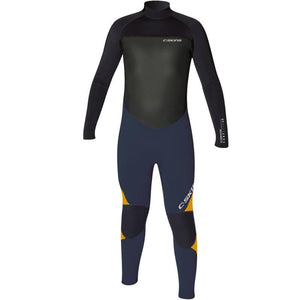 C-Skins Surflite 4/3mm Glued & Blindstitched Junior Wetsuit | Black/Ink/Orange