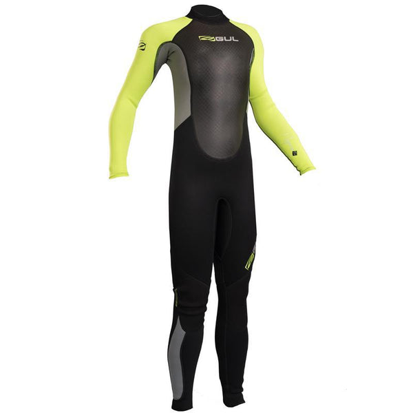 Gul Response 3/2mm Junior Steamer Wetsuit | Black/Lime