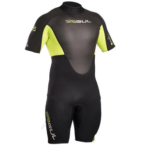 Gul Response Men's 3/2mm Shortie Wetsuit | Black/Lime