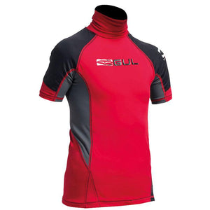 Childrens Gul UV50+ Rash Vest | Red/Black