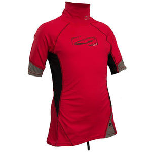 Gul Junior UV50 Rash Vest Short Sleeve | Red/Black