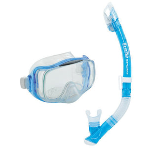 Tusa Imprex 3D Hyperdry Mask & Elite Dry Snorkel Set | Fishtail Blue