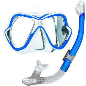 Mares X-Vision Mask and Mares Dry Snorkel Set