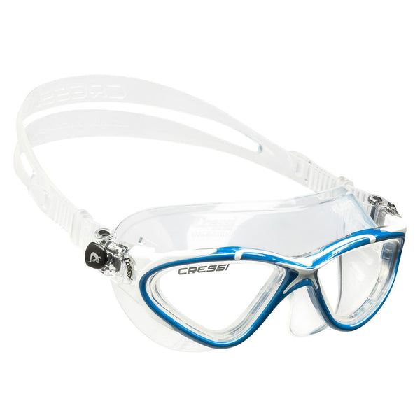 Cressi Planet Swimming Goggles | Blue/White