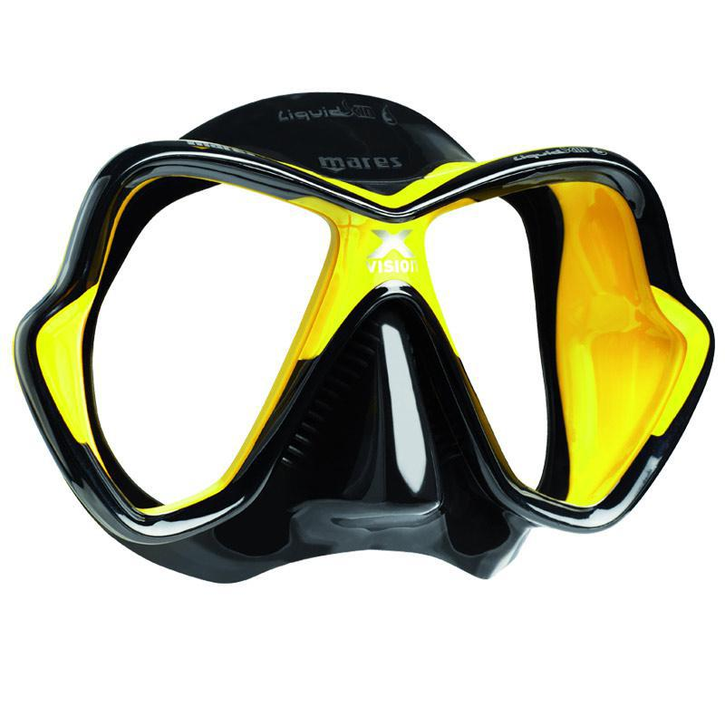 Mares X-Vision Ultra LiquidSkin Mask | Black/Yellow