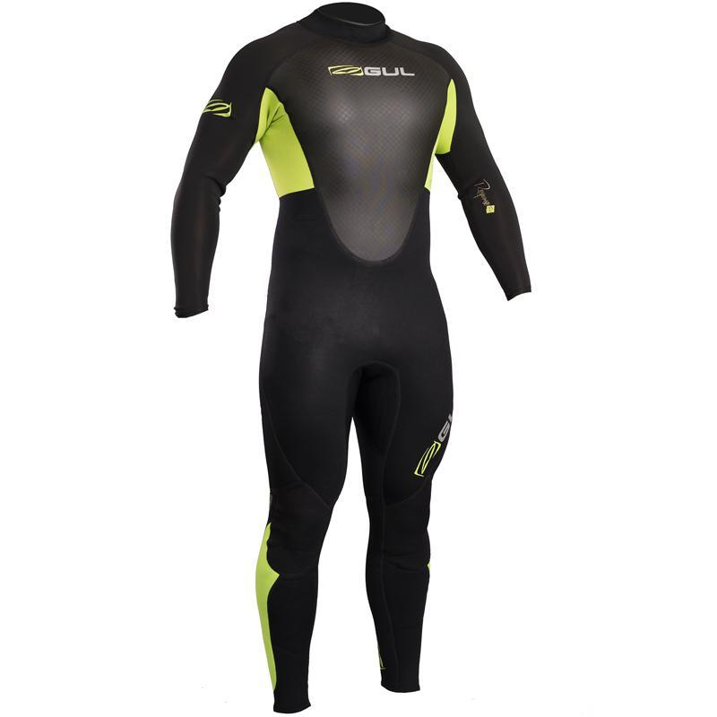 Gul Response 3/2mm Mens Spring Summer Wetsuit | Black/Lime