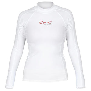 Ladies iQ-C UV Long Sleeved Rash Shirt | White