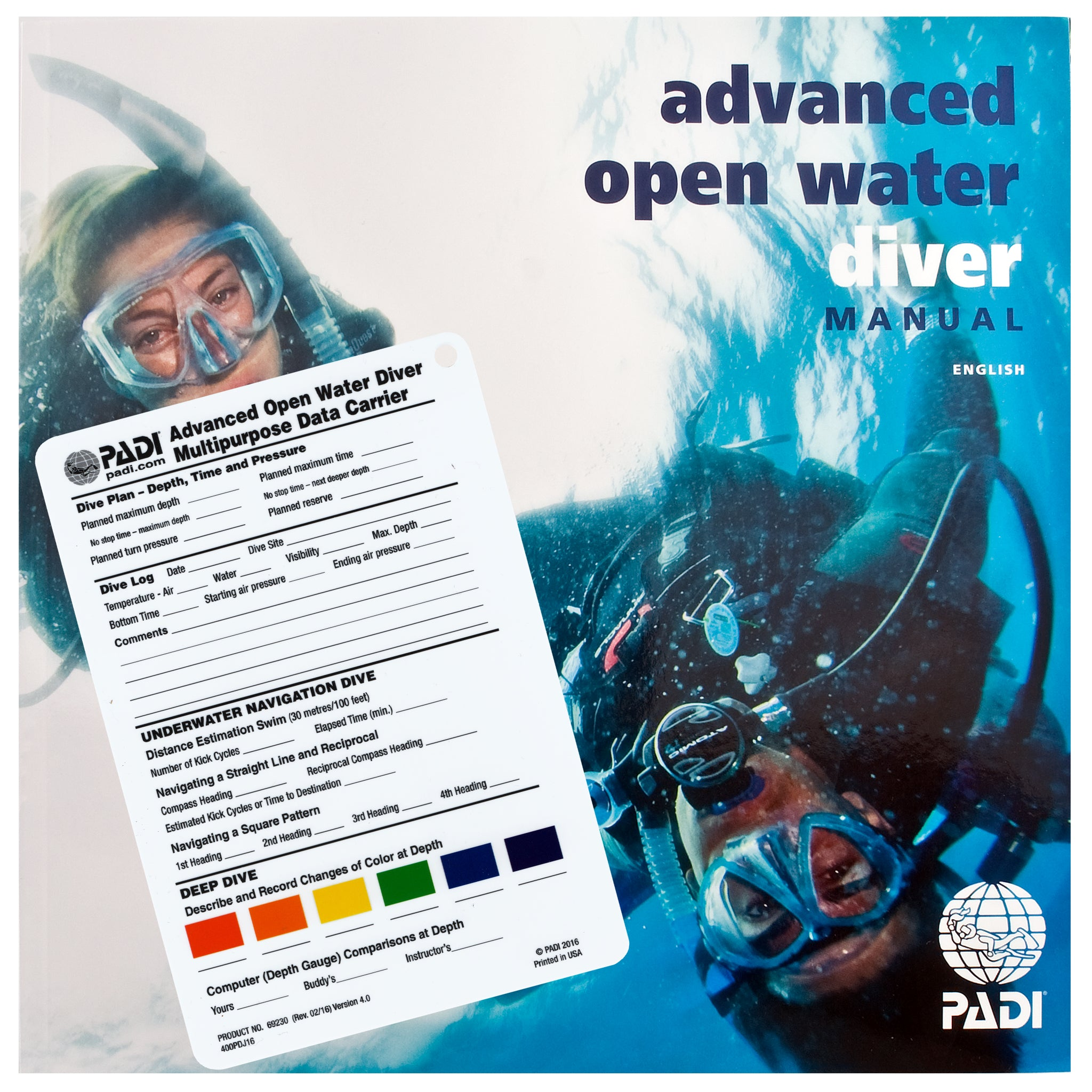 PADI Adventures in Diving Course Manual & Data Carrier ...