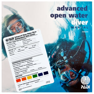 PADI Adventures in Diving Course Manual & Data Carrier