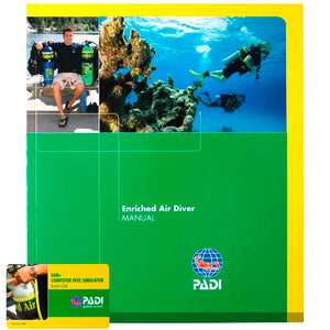 PADI Enriched Air Manual inc Sim Access Card