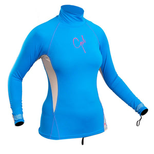 Gul Swami Women's UV50 Long Sleeve Rash Vest | Blue/Silver