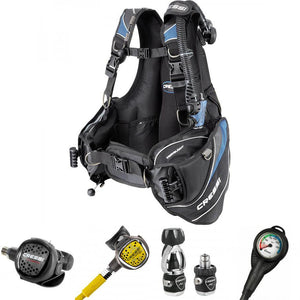 Cressi Travel Light BCD and Cressi MC5 XS Compact Regulator Package