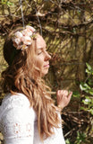 Beautiful flower crown/ Wedding hair piece/soft peony/ boho wedding/crown/bridesmaids/floral hair piece
