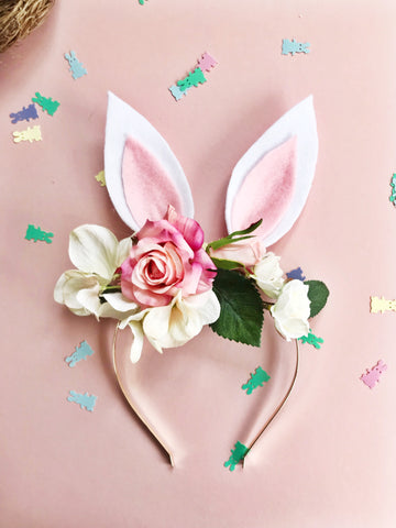 Bunny ears, costume ears, easter costume, fancy dress