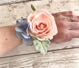 Wrist Corsage Cuff Bracelet lilac Roses Bride Bridesmaid Mother of the Bride, prom wedding accessories, bracelet