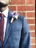 Thistle, lavender and foliage boutonnière/buttonhole, wild flowers, rustic wedding, twine, alternative wedding, quirky, indie