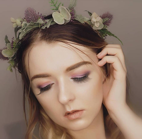 Beautiful flower crown/ Wedding hair piece/soft peony/ boho wedding/crown/bridesmaids/floral hair piece/wild flowers/thistle