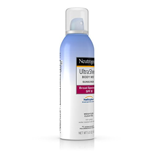 Neutrogena Ultra Sheer Body Mist Sunscreen, Broad Spectrum Spf 30, 5 Oz.