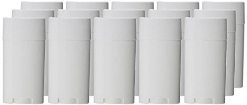 Goege Empty Plastic Oval Deodorant Containers Lip Balm Tubes With Lid Caps  15Ml For Lipstick, Crayon,Chapstick,Homemade Lip Balm,Bpa Free (10 Pcs)