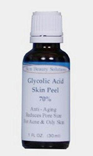(1 Oz / 30 Ml) Glycolic Acid 70% Skin Chemical Peel - Unbuffered - Alpha Hydroxy (Aha) For Acne, Oily Skin, Wrinkles, Blackheads, Large Pores & More (From Skin Beauty Solutions)